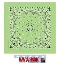 USA MADE Hav-A-Hank LIME GREEN PAISLEY Bandana BANDANNA SCARF Scarve Hea... - $9.29