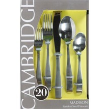 Cambridge Silversmiths 20-piece Flatware Set, Stainless Steel, Madison S... - $31.00