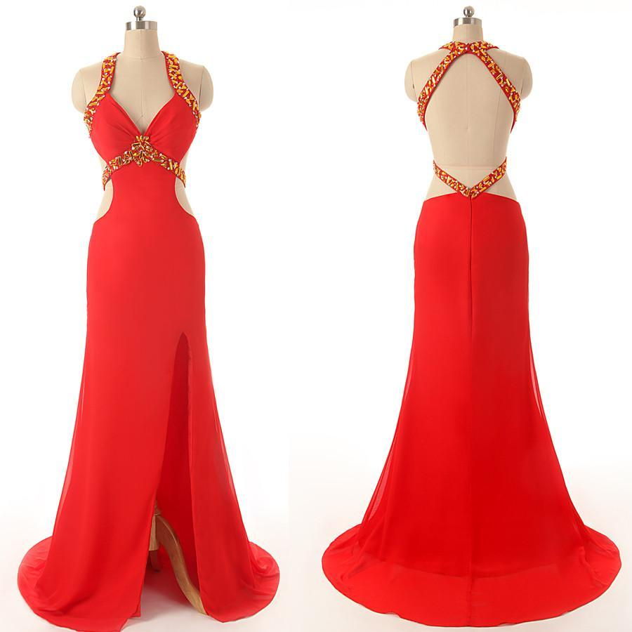 long prom dress,red Prom Dress,backless prom dress,prom dress,evening dresses