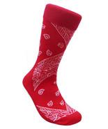 Red Bandana Design Socks Fun Novelty LEAF Republic One Size Fits Most Sox Pair - $9.45