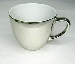 Starbucks Holiday 2007 Shiny Silver Coffee Mug Cup 16 oz - $13.78
