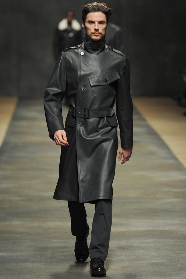 WINTER MEN LEATHER COAT TAILOR MADE REAL GENUINE LEATHER TRENCH COAT -20