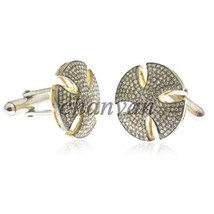 Vintage Look Handmade Rose Cut Diamond Sterling Silver Cufflinks Gift Fo... - $6.227,54 MXN