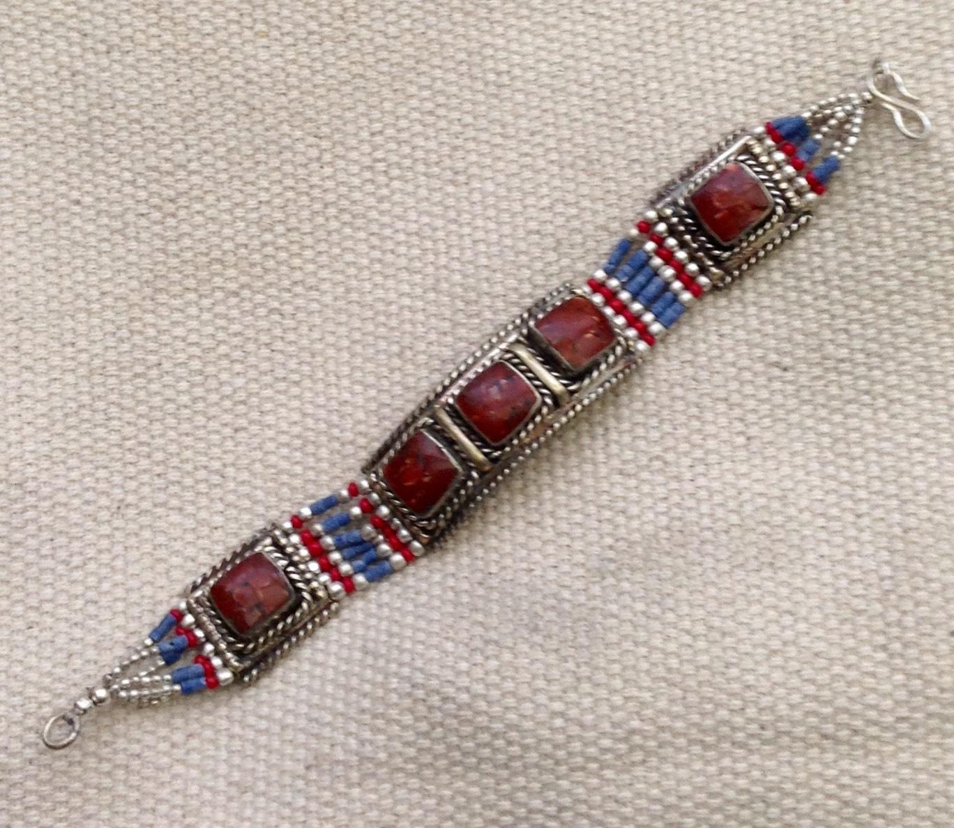 Ethnic Turquoise Coral Bracelet