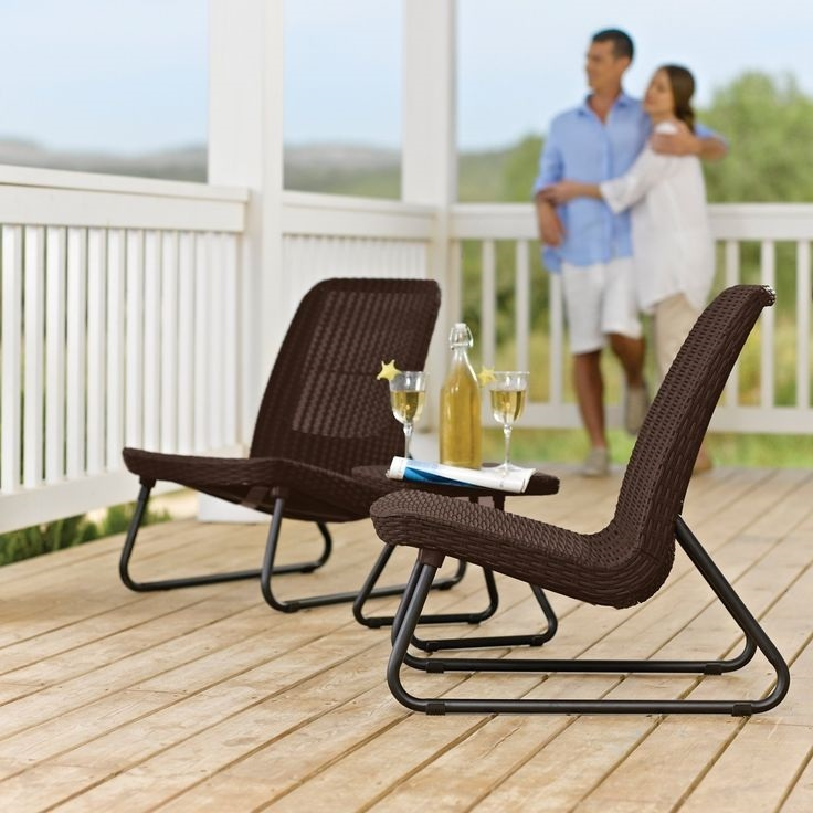 Outdoor patio set bistro furniture chairs table dining for Poolside table and chairs