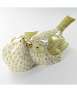"Herend VHJM-5059-0-00 Love Birds Butterscotch Fishnet 4.5"" x 2"" New $490 - $329.79"