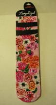 Ladies Socks, Mesh Knit By Living Royal, Pink Floral Print , 1 Pair, Bra... - $5.99