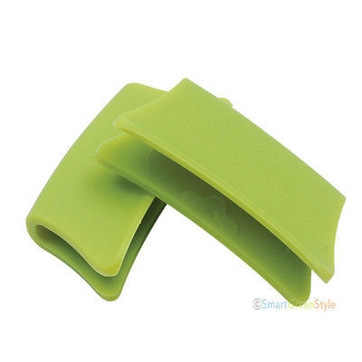 Silicone Pot Handle holder grip pink green pack of 2 pairs