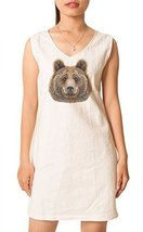 Vietsbay Women Portrait of Bear Printed Vintage Mini Shift Dress WDS_02 ... - €21,03 EUR