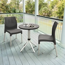 Outdoor  Bistro Set Patio Furniture Garden Poolside Backyard Wicker 3 Piece - $169.99