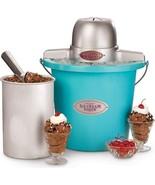 Nostalgia Electrics 4 Quart Blue Electric Ice Cream Maker, ICMP400BLUE Machine - $37.95