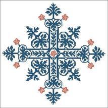Floral Ornamental 026 Blue Gothic cross stitch chart Pinoy Stitch - $9.90