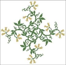 Floral Ornamental 020 Golden Bells cross stitch chart Pinoy Stitch - $9.90