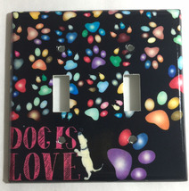Dog is Love Foot Print Light Switch Outlet Duplex Wall Cover Plate Home Decor image 2