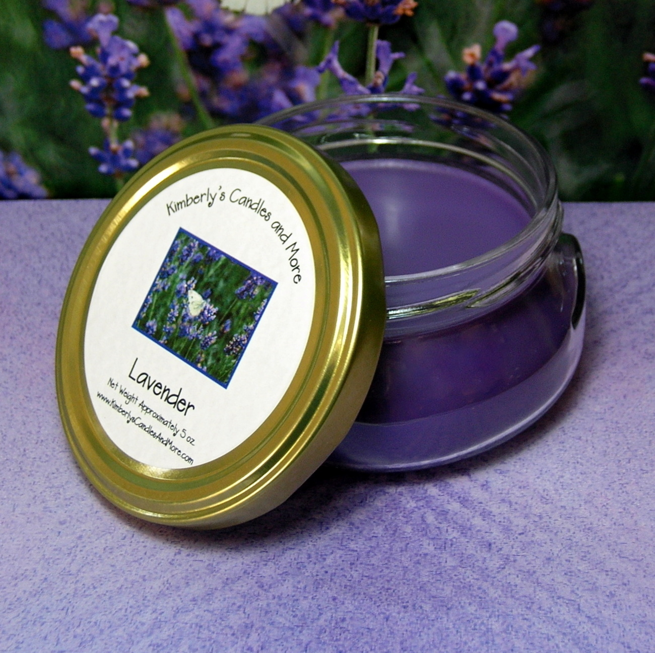 Lavender 6 oz. Tureen Jar Wickless Candle