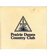 Prairie Dunes Country Club Menu Hutchinson Kansas - $21.84