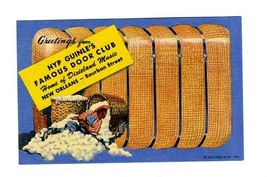 Hyp Guinle's Famous Door Club Postcard New Orleans Louisiana Negro Sleeping - $148.50