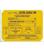 Lyle V Williams Silver Saddle Inn Menu East Florence Ave Downey California - $27.79