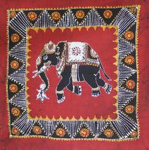 Indian Elephant Original Batik Art Painting For Wall Hanging Ethnic Hand... - $12.99