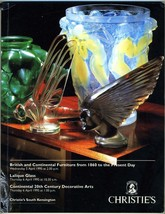 Christies 1995 Catalog South Kensington British Furniture Lalique Decora... - $34.65
