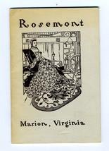 Rosemont Catalog Marion Virginia 1961 Laura Copenhaver  Furniture Quilts... - $34.65