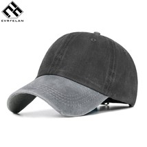 Evrfelan Patchwork Trucker Caps Men Adjustable Washed Baseball Cap Unise... - $11.79