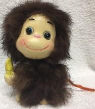 Rare Adorable Napcoware Furry Monkey With Banana Figurine TW M-8299 Napco - $16.99