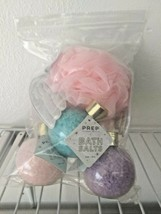 3 LOT Prep Your Skin Bath Salts+angel  sponge Crystal Bath Salts 6 oz Each
