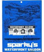Sparky's Waterfront Saloon Menu St Thomas US Virgin Islands - $43.67