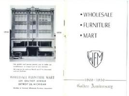 1956 Wholesale Furniture Mart Catalog Detroit Michigan 50th Anniversary ... - $21.78