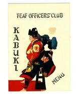 FEAF Officers Club Menu Kabuki Far East Air Force 1950s - $27.69