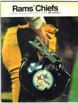Los Angeles Rams v Kansas City Chiefs NFL Program 1968 Memorial Coliseum - $59.31