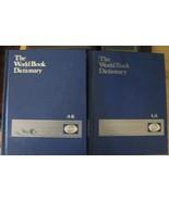 Vintage World Book Dictionary Vol I A-K; Vol II L-Z Very Good Cond  1981... - $21.95