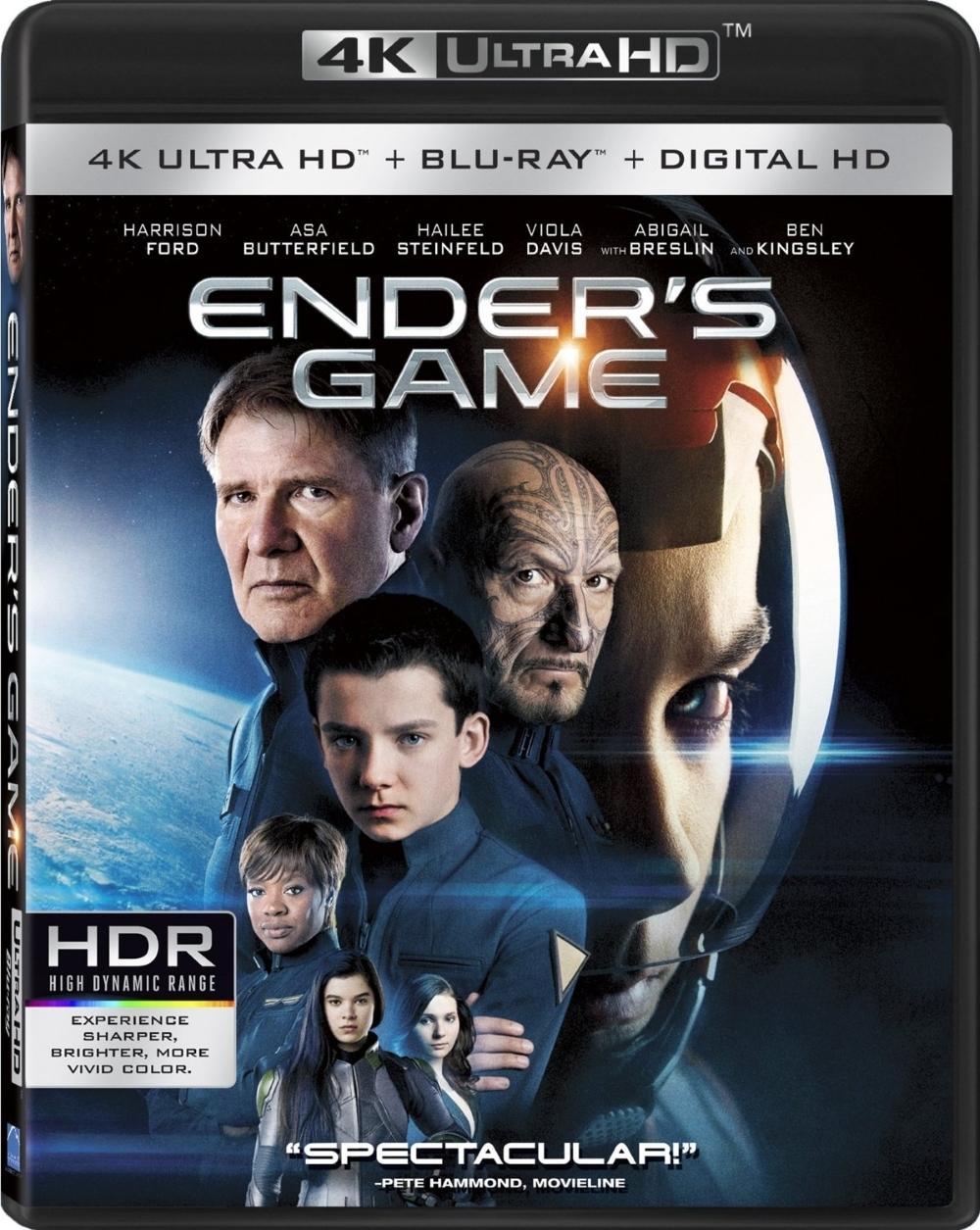 Ender s game the movie  4k ultra hd uhd   blu ray   digital hd ultraviolet uv