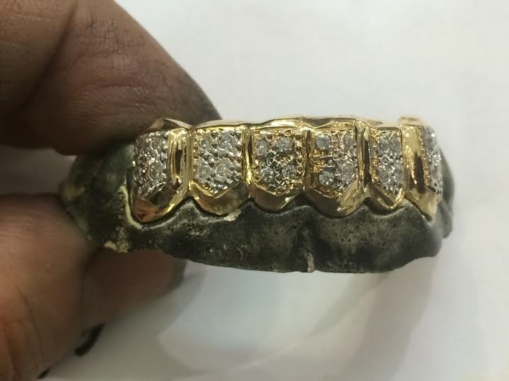 custom gold teeth grillz with 25 cz stone and 39 similar items