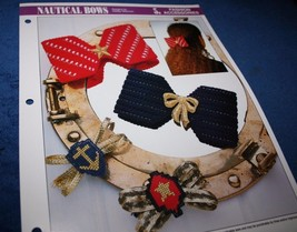 NAUTICAL BOWS PLASTIC CANVAS PATTERN FROM ANNIE'S - $2.96