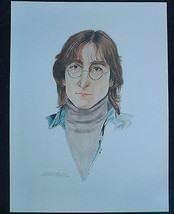 John Lennon Lithograph by Lawrence R. Reed 1st Edition Artist Proof 1981 - $40.00