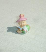 Easter Bunny Rabbit Hallmark Merry Miniature Painting Easter Egg - $7.55