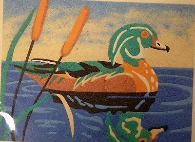 Duck and Sand Art By Unknown Artist