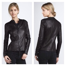 Vince Black Leather Jacket - Size Large - $485.00