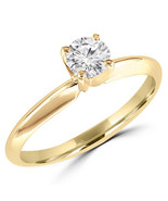 1/2 Carats Solitaire Diamond Engagement Ring GH/SI1-SI2 14K Yellow Gold ... - $1,269.00