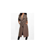 Boohoo Kate Belted Shawl Collar Coat Mocha One Size NWT - $29.69