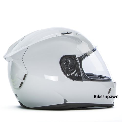 New XL Fly Racing Revolt FS Motorcycle Helmet Solid Gloss White DOT & Snell