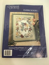 Candamar Designs  Embroidery American Floral Picture Bouquet - $46.74
