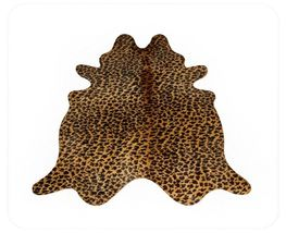 Leopard Print Cowhide  on Caramel - $299.00