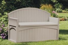 Deck Storage Seat Resin Garden Bench Patio Furniture Toy Box Pool Yard E... - £93.56 GBP