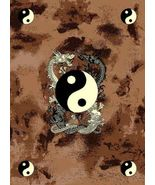 Yin Yang Japanese Dragon Rug 4ft. x 6ft. - $49.00
