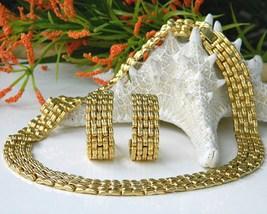 Vintage choker collar cleopatra necklace set thumb200