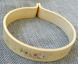Celluloid baby blanket crib clip hand painted flowers vintage 1940 nursery - $16.00