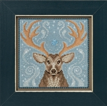 Winter Stag Winter Collection 2016 Buttons and Bead kit Mill Hill  - $12.60